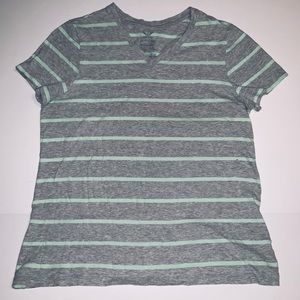 Faded Glory XL (16/18) Striped T Shirt